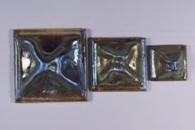 photo showing the 3 sizes of Pinchback tiles