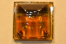 Amber colored Square Chicklet Tile - Amber