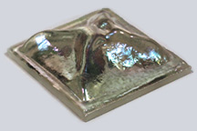 Iridescent Clear Pinchback Tile